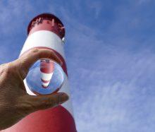 Leuchtturm in der Kugel