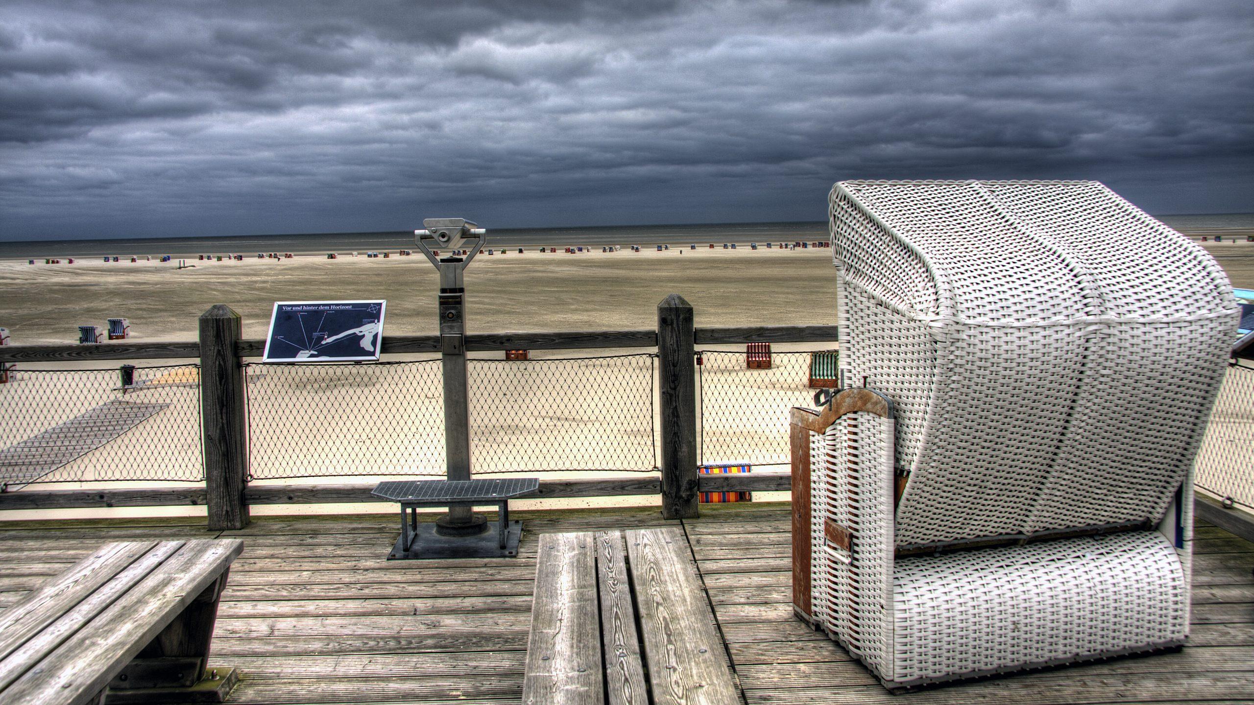Strandkorb mit Aussicht
